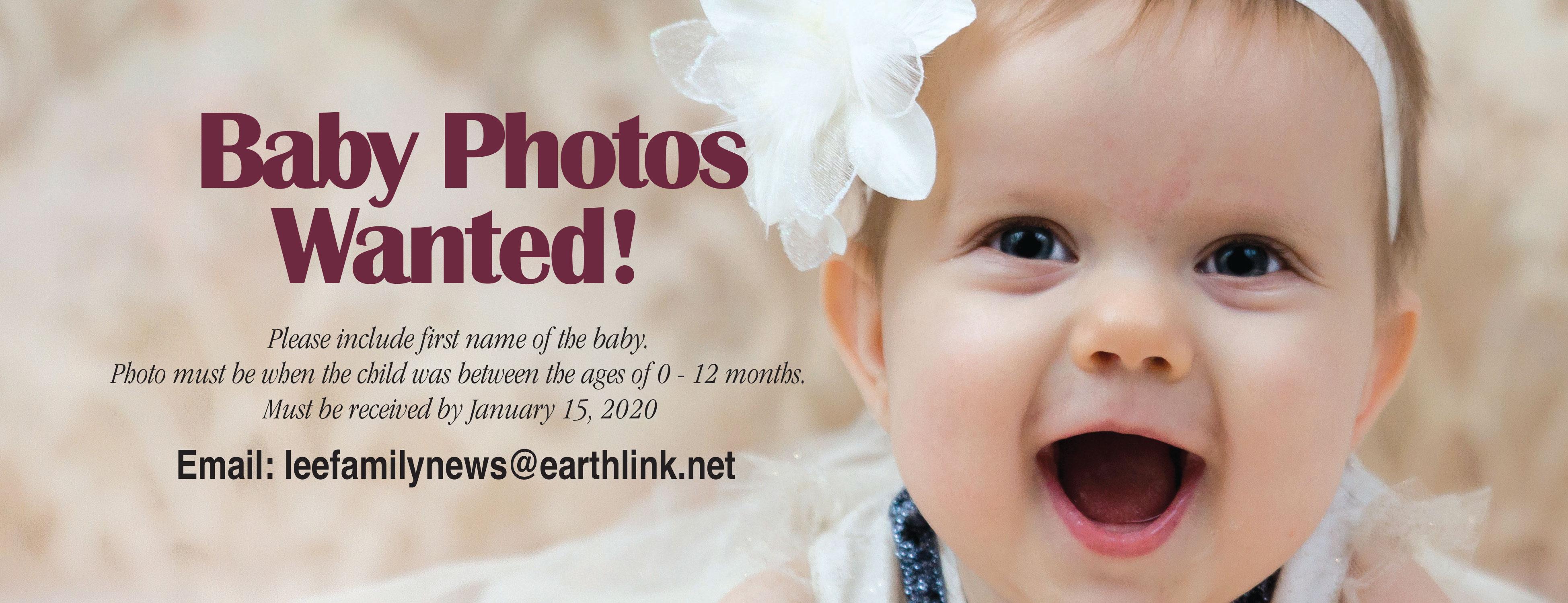 We Need Baby Photos!!!!!