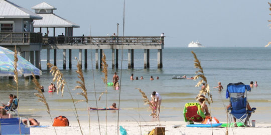 County-owned beaches and Fort Myers Beach Pier to close at 6 p.m. Thursday